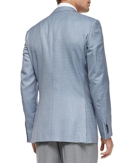 Trofeo 600 Check Jacket, Blue/Gray/White
