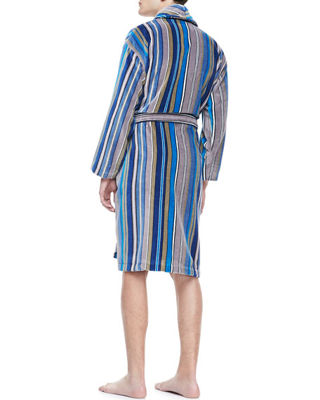 Terry Cloth Robe, Blue