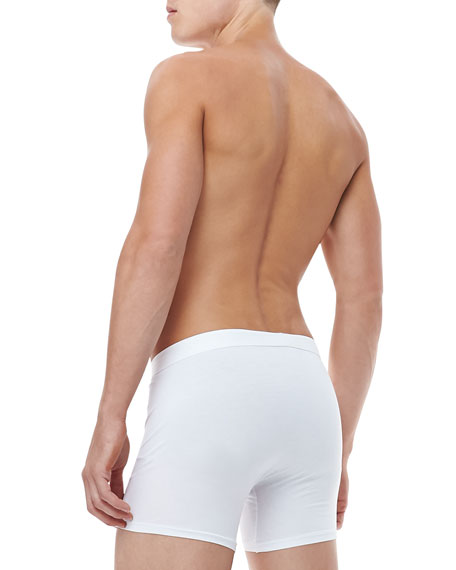 Jack Pima Cotton Stretch Trunks, White