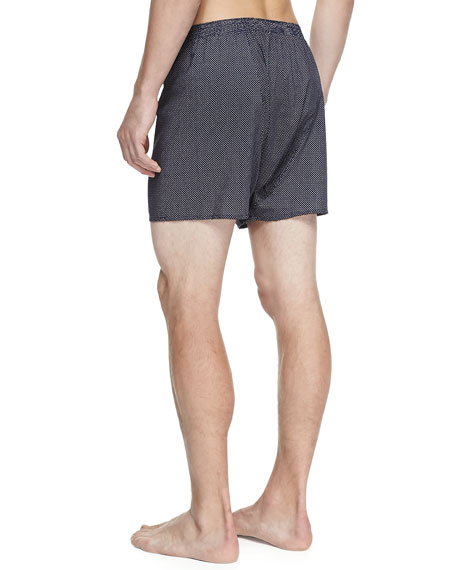 Plaza Pindot Boxer Shorts, Navy