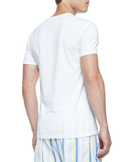 Jack Pima Cotton Stretch Crew Neck Undershirt, White