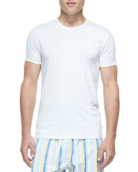 Jack Pima Cotton Stretch Crew Neck Undershirt, White