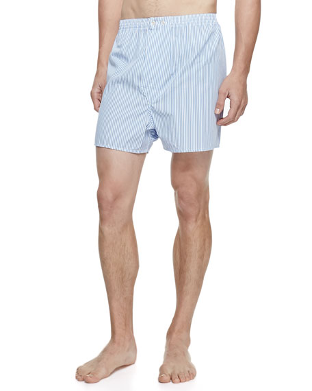 Derek Rose James Fine-Stripe Boxer Shorts