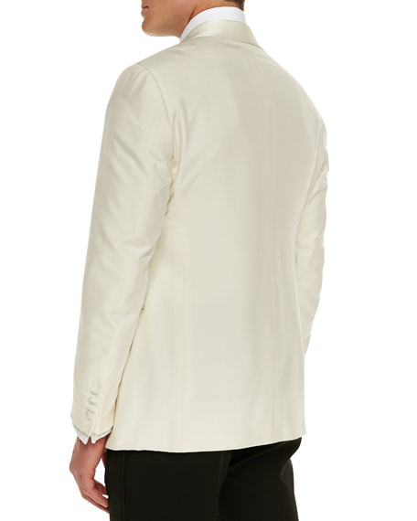 Silk Dinner Jacket, White
