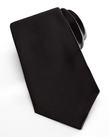 Satin Formal Tie, Black