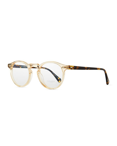 Oliver Peoples Gregory Peck Fashion Glasses, Tortoise/Clear