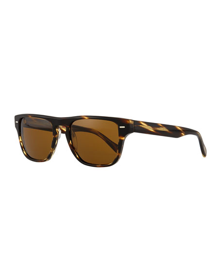 Oliver Peoples Strathmore VFX+ Polarized Square Sunglasses, Coco