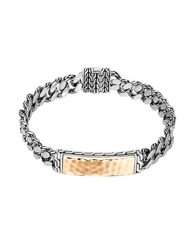 Gourmette Classic Chain ID Bronze Bracelet