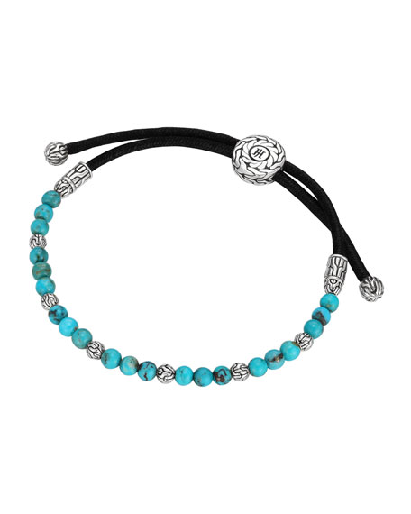 John Hardy Adjustable Round Bead Bracelet