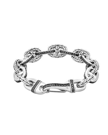 Black Sapphire Rode Link Bracelet