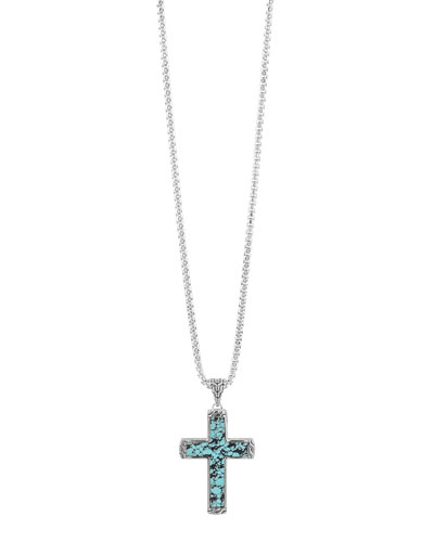 Turquoise Cross Pendant Necklace