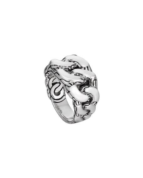 John Hardy Men's Classic Chain Gourmette Silver Ring