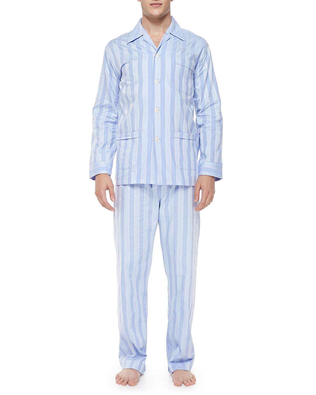 Derek Rose Men s Stripe Pajama Set 8185b5007