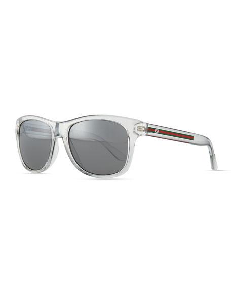 Gucci Plastic Frame Sunglasses, Crystal