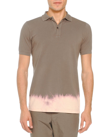Tomas Maier Bleached-Bottom Polo, Taupe