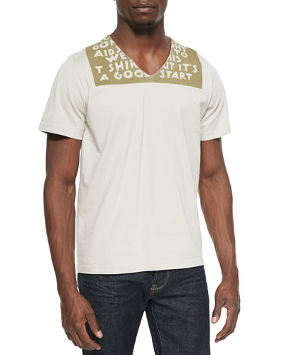 AIDS Awareness Short-Sleeve Tee, Beige