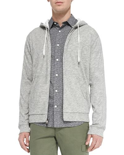 Vintage Melange Jersey Lined Hoodie, Charcoal