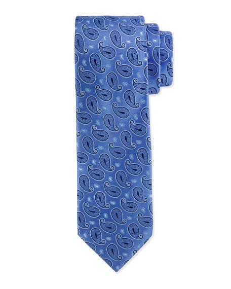 Charvet Paisley-Pattern Silk Tie, Blue