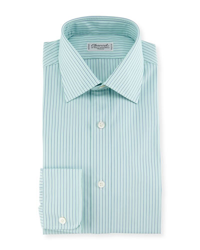 Shadow Striped Dress Shirt, Mint Green