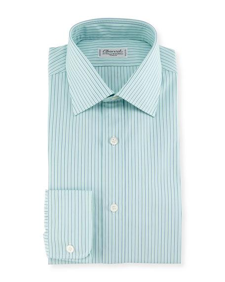 Charvet Shadow Striped Dress Shirt, Mint Green