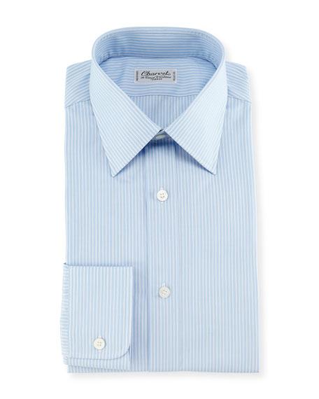 Charvet Striped Dress Shirt, Blue