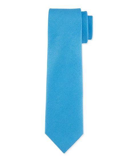 Charvet Solid Silk-Blend Tie, Blue