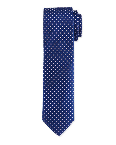 Venn Circle Silk Tie, Blue/Pink