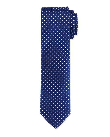 Charvet Venn Circle Silk Tie, Blue/Pink