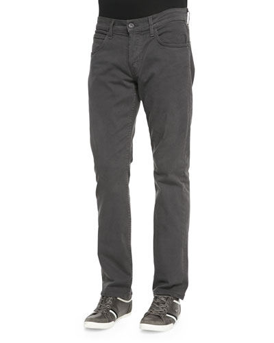 Byron Twill Five-Pocket Jean, Dark Gray