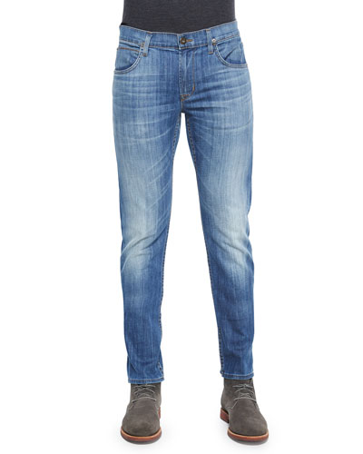 Blake Slim-Straight Leg Jeans, Light Blue