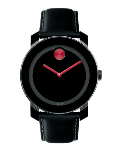 Movado Bold 42mm Bold Watch with Leather Strap