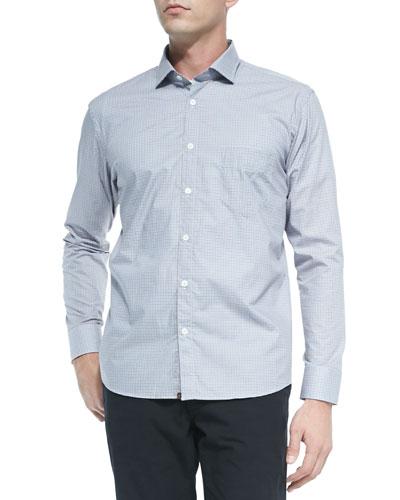 Check Woven Shirt, Light Blue