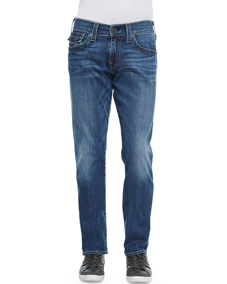 True Religion Ricky Lakeview Denim Straight-Leg Jeans