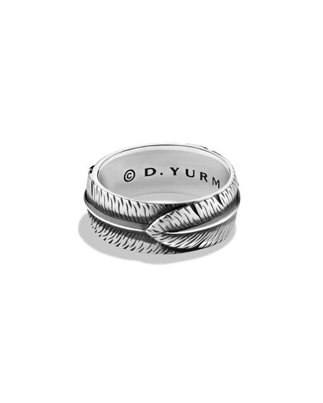 Frontier Feather Band Ring, Size 9