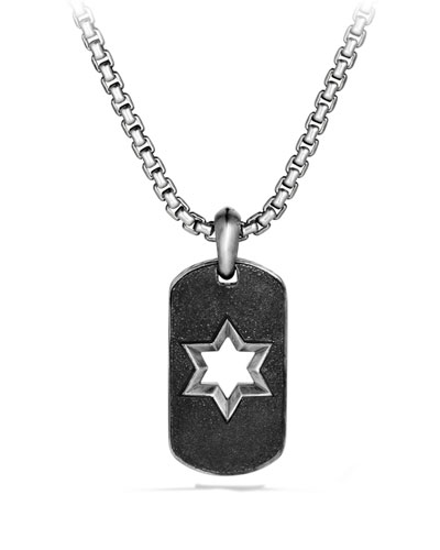 Star of David Tag Chain Necklace