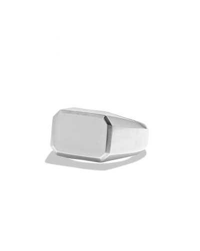 Men's Classic Sterling Silver Signet Ring