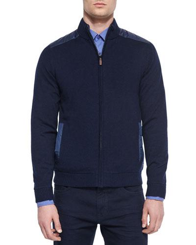 Reversible Full-Zip Jacket, Navy
