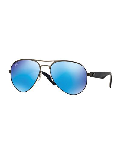 Aviator Sunglasses with Mirrored Lenses