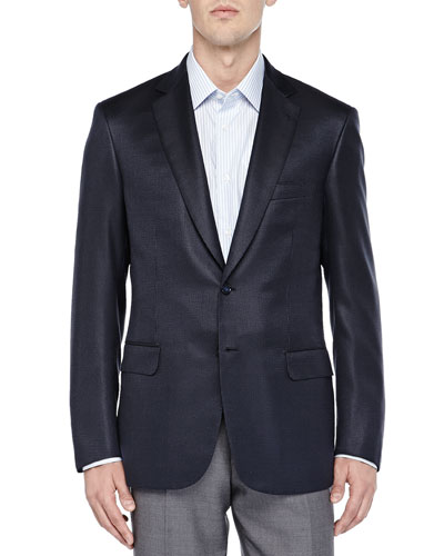 Tic Two-Button Jacket, Navy