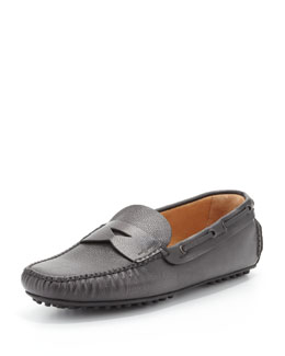 Penny Leather Driver, Gray
