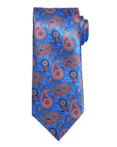 Teardrop Paisley Tie, Blue