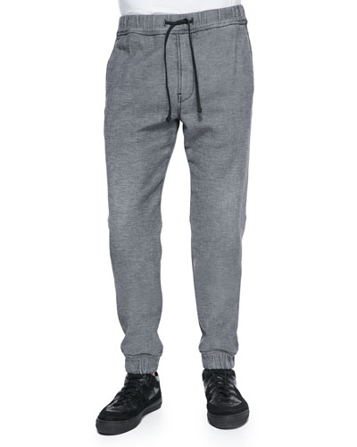 Sportif Stretch-Knit Sweatpants, Black Wash