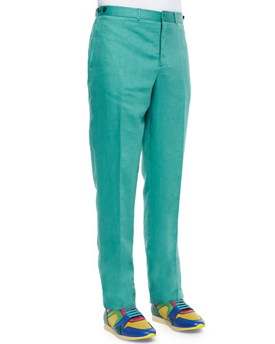 Sartorial Modern-Fit Trousers, Green