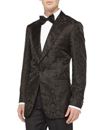 Brocade Evening Jacket, Black