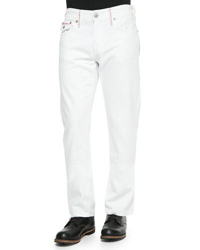 Ricky Straight-Leg Jeans, White