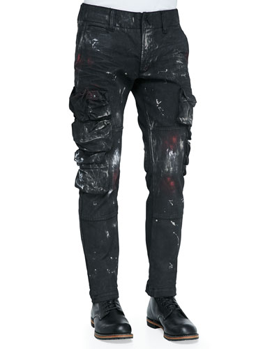 The Mob Paint-Splatter Jeans, Black