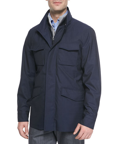 Elements Trofeo Wool Safari Jacket, Blue