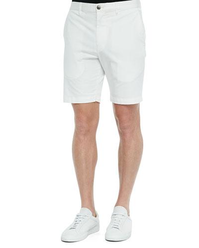 Woven Bermuda Shorts, Open White