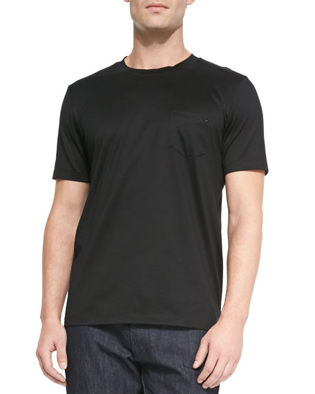 Salvatore Ferragamo Gancini Crewneck T-Shirt, Black