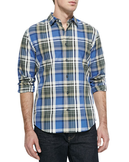 Vince Madras Plaid Slub Shirt